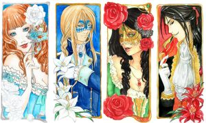 - COMMISSION - Bookmark Masquerade - by ooneithoo