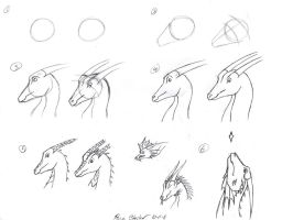 Dragon tutorial 4- head by dragongirl508