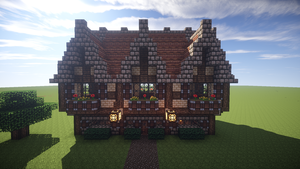 Minecraft Medieval House 1 by DaggyTee