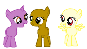 MLP:FIM Filly Group Base by The-Crazy-Canadian