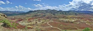 Painted Hils Pano by cjosborn