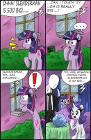 Rarity vs Slenderman 2 by CIRILIKO