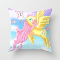 Fluttershy Pillow at my Society6 store! by Susaleena