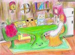 Finn and Jake's Pie Time by hewhowalksdeath