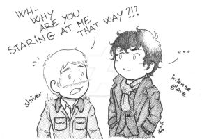 Johnlock - Glare by ART-RevolveR