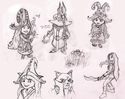League Sketch Dump by TheQuietWriter