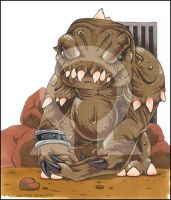 Chibi Rancor by BloodhoundOmega