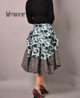 Blue Victorian Pleated Skirt 5 by yystudio