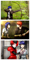 Hunger Games AU by gloriamelmed