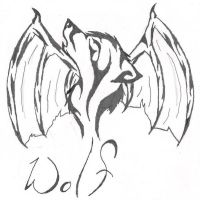 Wolf with Dragon Wings Tattoo by Warewolf-DeleriousD