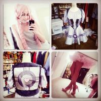 Lady Companion Cube Cosplay WIP1 by merrypranxter