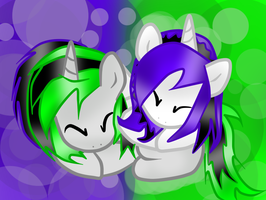 Ray Scratch and Talin Aqua :3 by TalinTheKiller