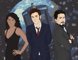 Dr. Who and Friends by newwrldgrl