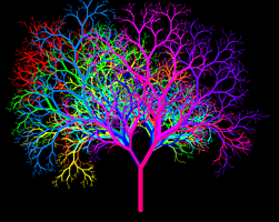 Leafless Colour Wheel Tree Ib by copperphoenix