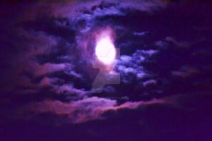 Moon with purple fade by ArtieWallace