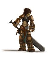 Pathfinder - Amiri The Barbarian study by FilKearney