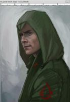 Michael Fassbender as Assassin (WIP) by FluorineSpark