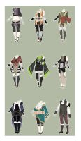 Naruto Outfit Adopts [CLOSED] by xNoakix3