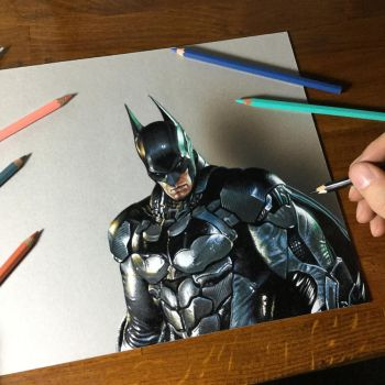 Batman Drawing by marcellobarenghi