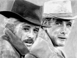 Robert Redford and Paul Newman by bloodfilledlungs