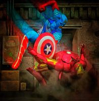 Cap America vs Ironman by hiram67