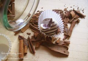 Striped Chocolate Candy ring by Nika-N
