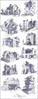 12 Buildings by MeckanicalMind