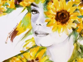 Michael Jackson Sunflower Close up by HitomiOsanai