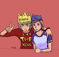 Pewdie and Cutiepie by Hexakowka