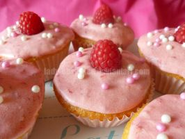 Raspberry Topped Cupcakes by lady-obsessed