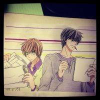 Onodera and Takano by Karina-o-e