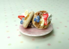 Miniature Food Jewelry Fruit Waffle Earrings by kawaiibuddies
