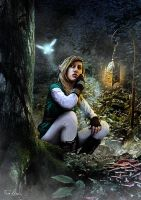 Link in the woods (Link Series, Picture 1/4) by Fran-Hdez