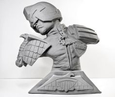 Judge Dredd Sculpture Bust by Danwhitedesigns