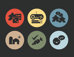 game cafe icons by GoldfinchDesigns