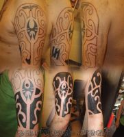 Polynesian Coverup by GetSomeInk