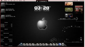 Mac Osx Themes with Rainmeter by jestjoy11