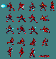 Guyver 0 Sprite Sheet by Gatman720