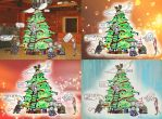 Supernatural Christmas (backgrounds) by Chukapix