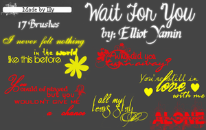 Wait For You by Elliot Yamin by Illyera