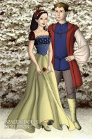 Tudor Disney Couples Prince and Snow White by SerenDippityDooDah