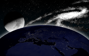 Lights of Europe in Space by Merristuog