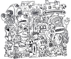 Monster Collage by JoePhatty
