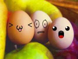 Crazy eggs 1 by FrancescaDelfino