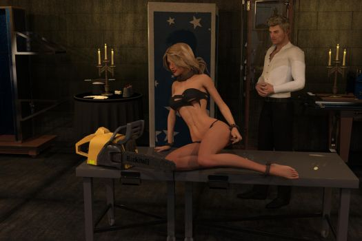 Ann and the Chainsaw in my Dungeon 02 by mattdjedi01
