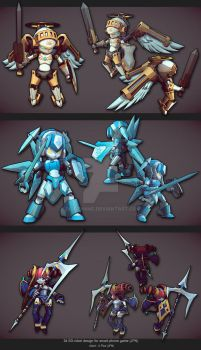 chibi vector-style 3d character by diorzhang