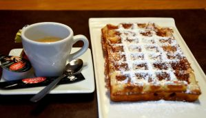 Coffee and waffle by titoune33