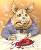 Corporate Swine by zombieater