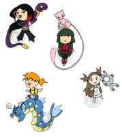 Chibi Pokemon Girls by Inkblot-Rabbit