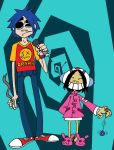 2d and Noodle raimbaudfied by LazyAsHell